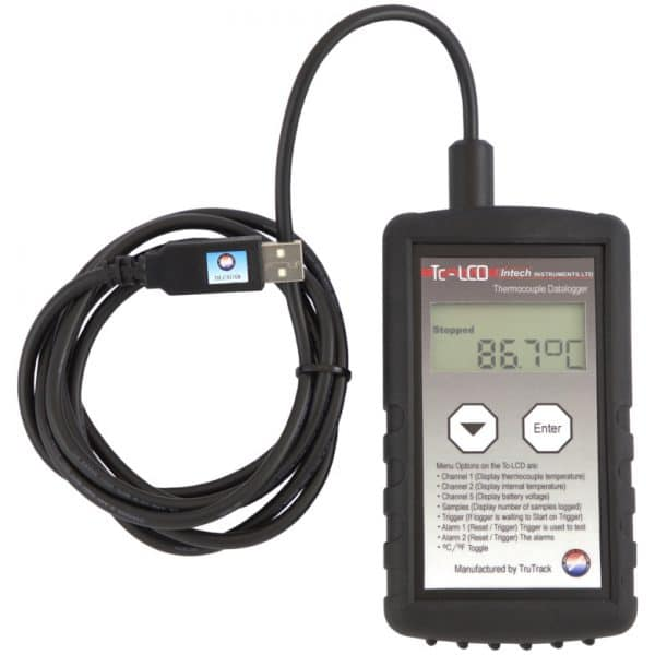 Intech Thermocouple Temperature Data Logger with DLC8USB Tc-LCD