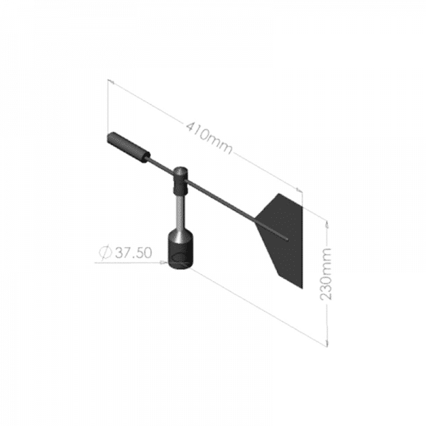 Intech Wind direction Vane WD-CL - Dimensions