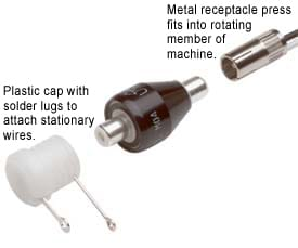 Mercotac Coaxial connector Lug cap and Receptacle for 205