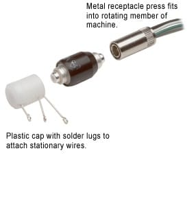 Mercotac Coaxial connector Lug cap and Receptacle for 305