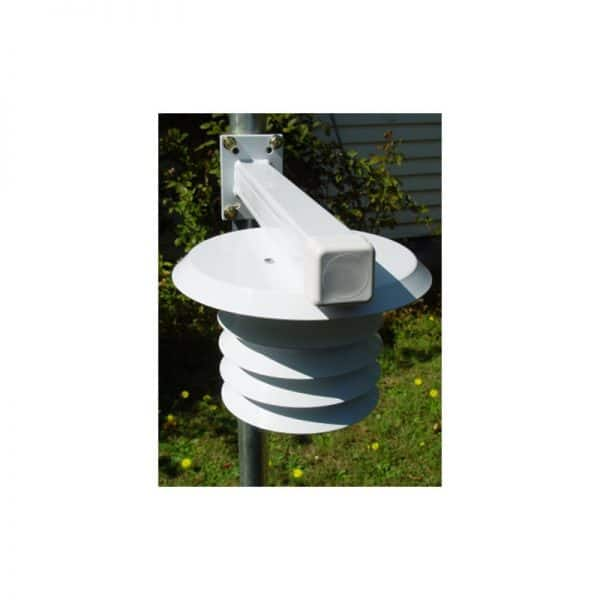 Intech Weather Station THP-LB-CL (Temperature, Humidity and Barometric Pressure sensors, all housed in Solar Radiation Shield, mounted on L Bar)