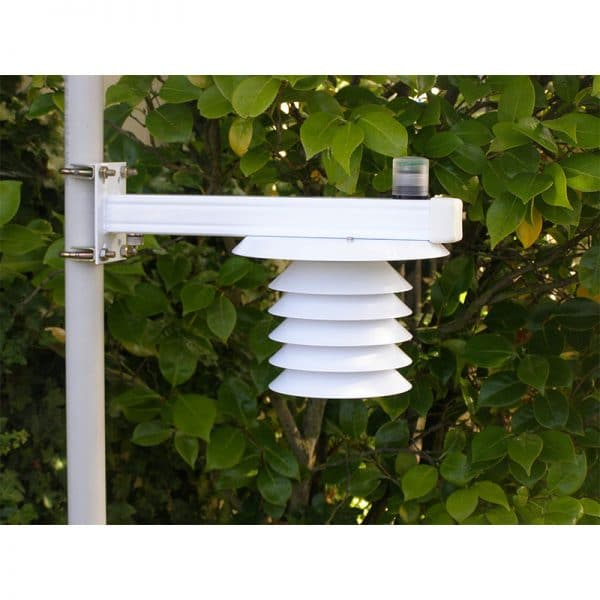 Intech Weather Station THP-LE-LB-CL (Temperature, Humidity and Barometric Pressure sensors, all housed in Solar Radiation Shield, with Light Energy Sensor, mounted on L Bar)