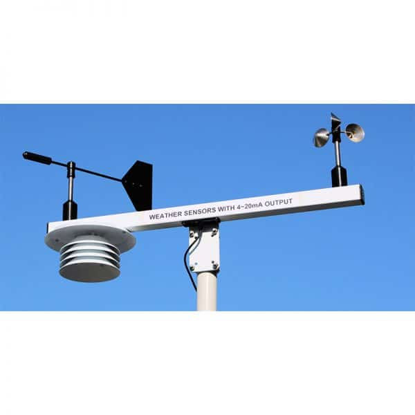 T Bar Mounting Arm with Wind Speed, Wind Direction and Solar Radiation Shield