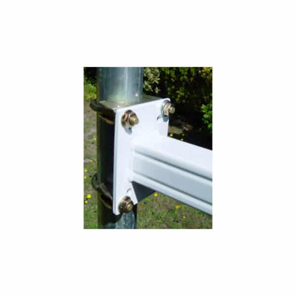 Mounting Arm attached to Pole with U bolts